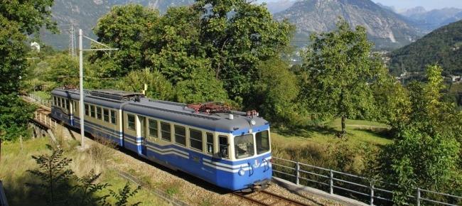 Il percorso con la Ferrovia delle Centovalli...